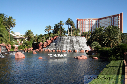 USA - The Mirage volcano, Las Vegas Strip, Nevada