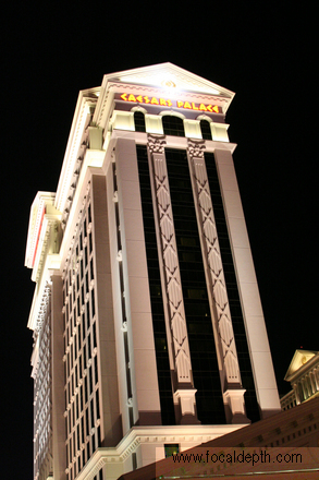 USA - Ceasar's Palace at night, Las Vegas, Nevada