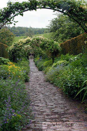 UK - Garden path at Wallington Hall