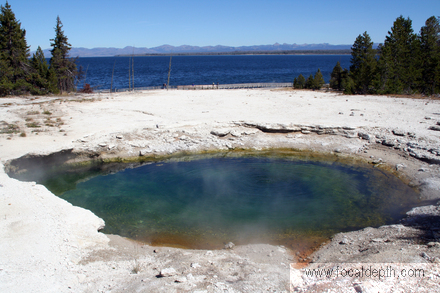 Yellowstone - Surging Spring, West Thumb Geyser Basin, Yellowstone National Park