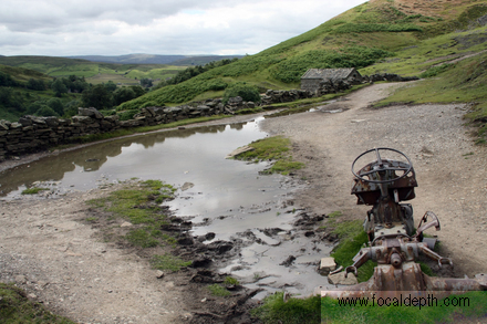 UK - Old abandoned tractor on footpath between Keld and Muker, Upper Swaledale, North Yorkshire