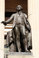 USA - Bronze statue of George Washington on the steps of Federal Hall, Wall Street, New York