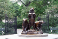 USA - Group of bears sculpture, Central Park, Manhattan, New York