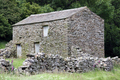 UK - Old barn on footpath between Muker and Keld, Upper Swaledale.